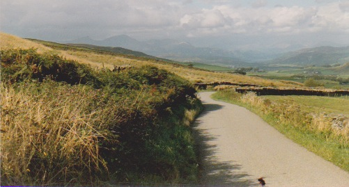 You can make out Coniston Water in the distance. To the left is Coniston Old Man.