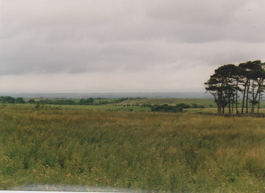 Somewhere in the distance is the Solway Firth