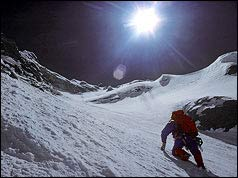 Doug Scott on Everset in 1975. Photo taken by Mick Burke who died near the summit