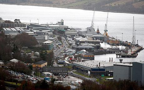 Faslane. photo Daily Telegraph