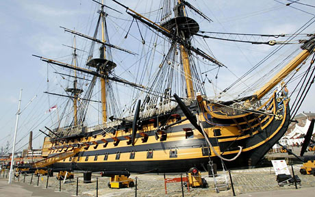 HMS Victory. Photo credit Daily Telegraph