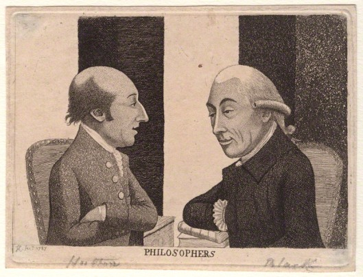 James Hutton discusses philosophy with Scottish chemist Joseph Black. Etching by John Kaye National Portrait Gallery
