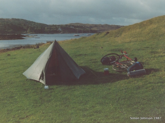 Camping on the strand, Arisaig