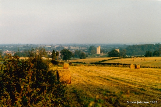 Helmsley Castle in the Distance