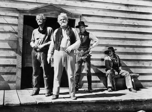John Dierkes Emil Meyer and Jack Palance (plus one) in Shane
