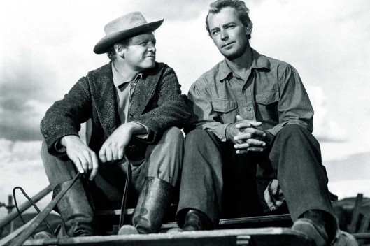 Van Heflin and Alan Ladd in Shane