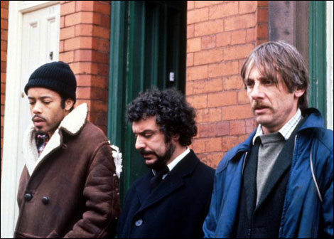 Alan Igbon, Michael Angelis and Tom Georgeson in Alan Bleasedale's Boys From the Black Stuff